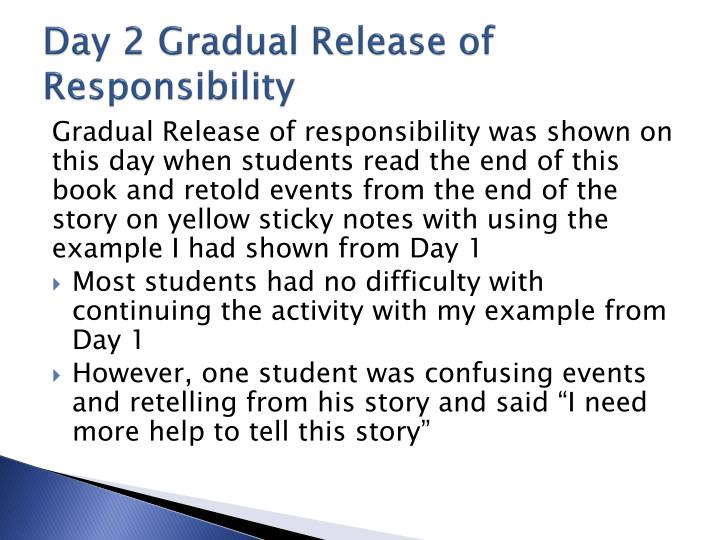 Day 2 Gradual Release of Responsibility
