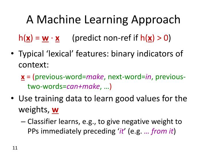 A Machine Learning Approach