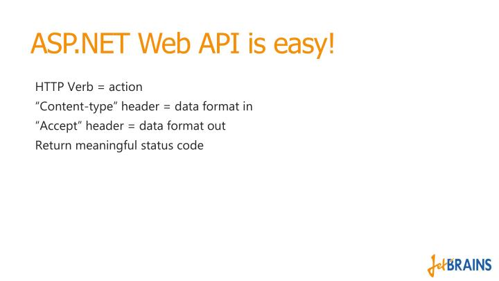 ASP.NET Web API is easy!
