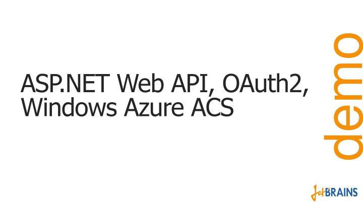 ASP.NET Web API, OAuth2, Windows Azure ACS