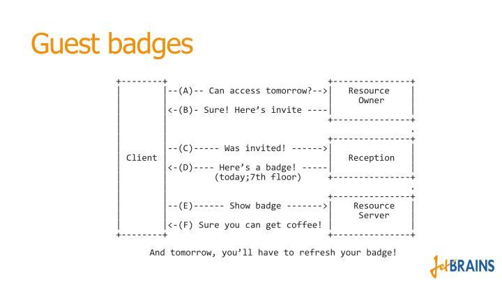 Guest badges