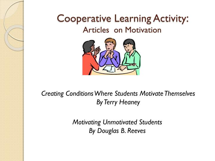 cooperative learning articles