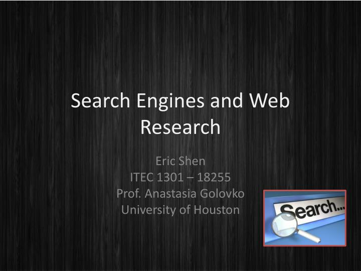 ppt search engines and web research powerpoint