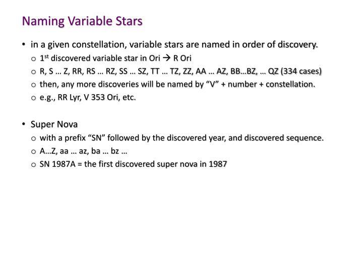 Naming Variable Stars