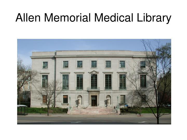 Allen Memorial Medical Library