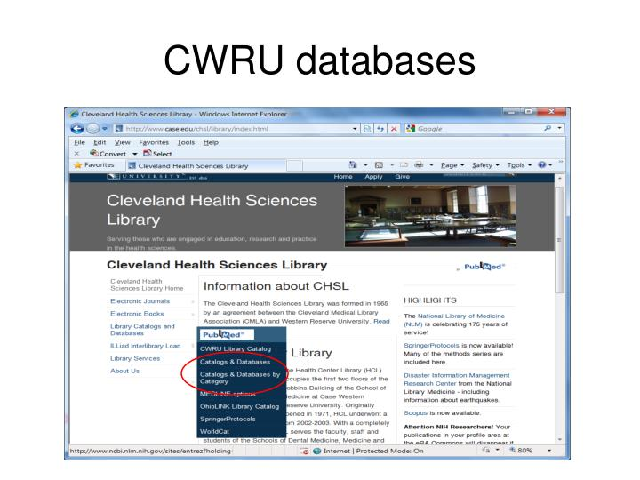 CWRU databases