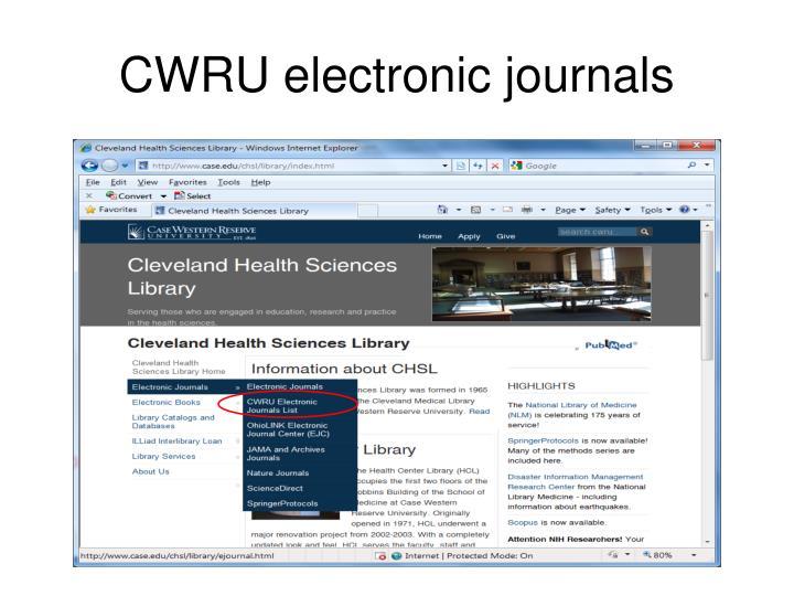 CWRU electronic journals