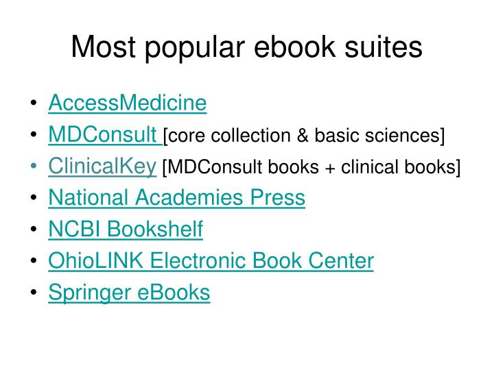 Most popular ebook suites
