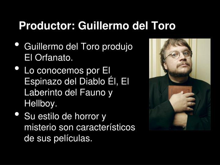 Productor: Guillermo del Toro