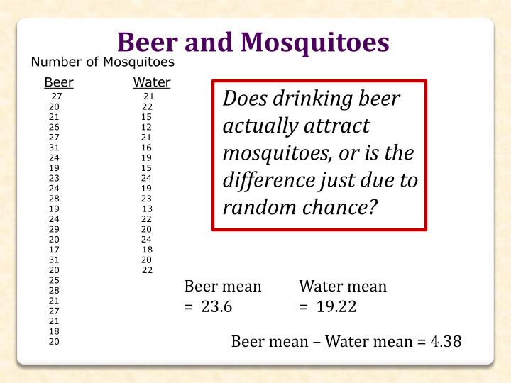 Beer and Mosquitoes