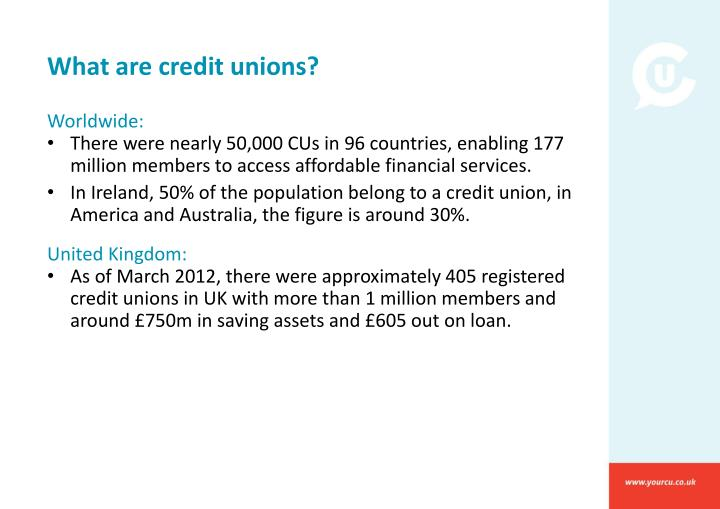 What are credit unions?