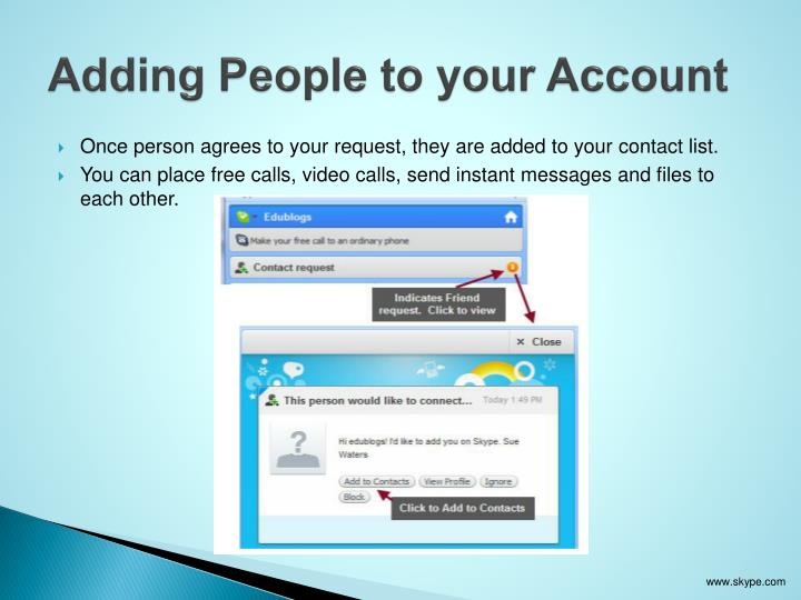 Adding People to your Account