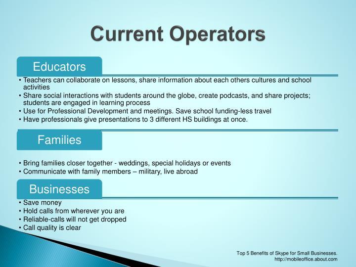 Current Operators