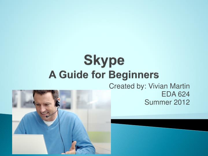 Skype a guide for beginners