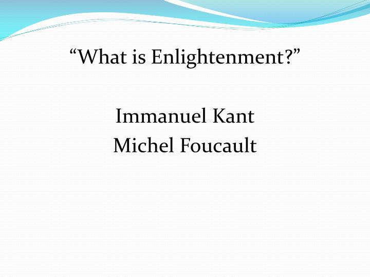 """What is Enlightenment?"""
