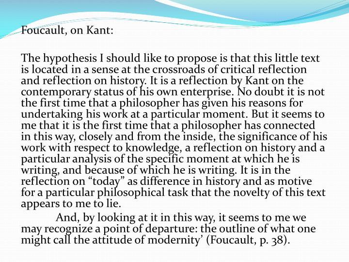 Foucault, on