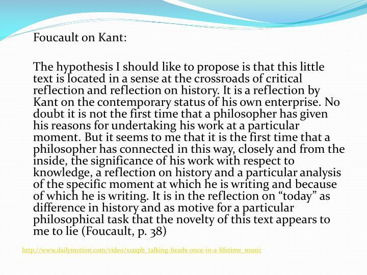 Foucault on Kant: