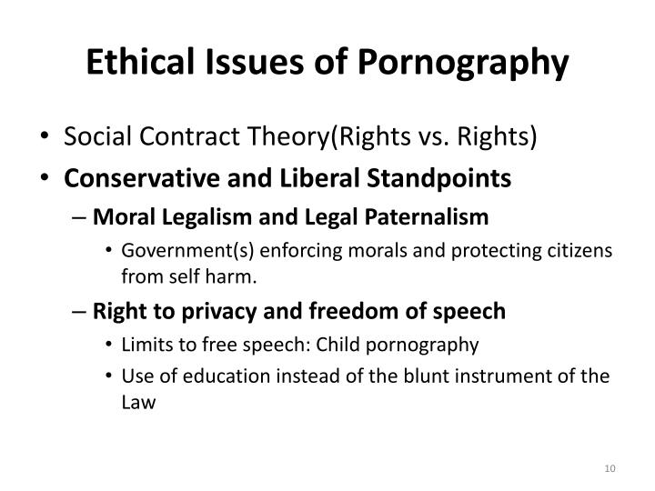pornography not moral issue Cass r sunstein the problem of pornography has reappeared on the  national  see mackinnon, not a moral issue, 2 yale l & pol'y rev 321, 322- 24.
