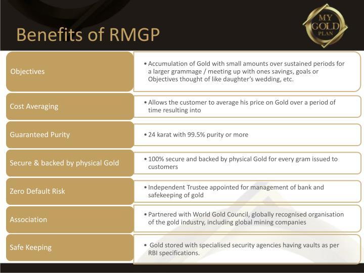 Benefits of RMGP