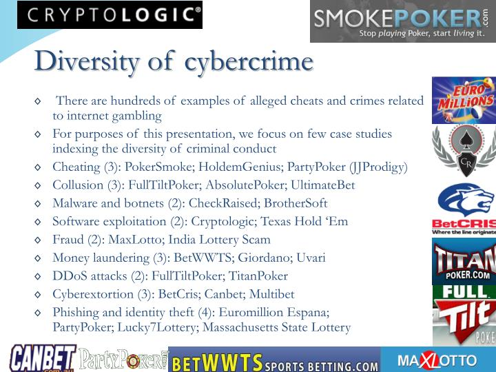 Diversity of cybercrime
