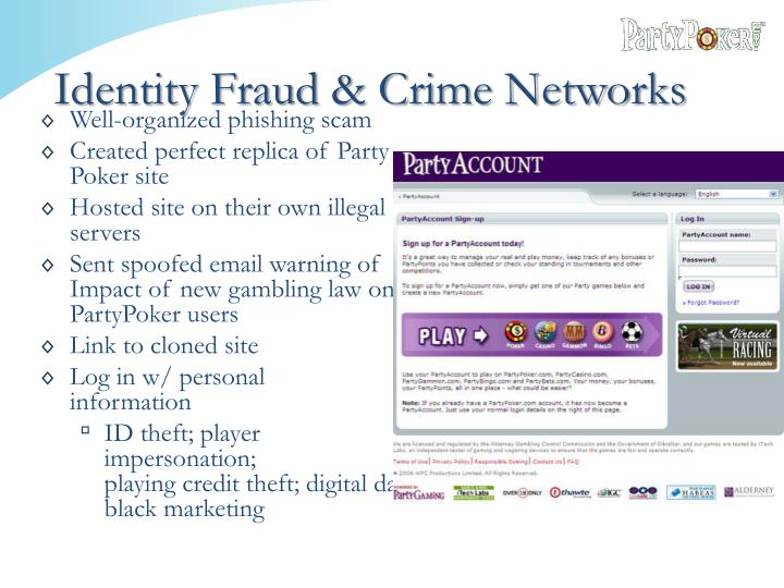 Identity Fraud & Crime Networks