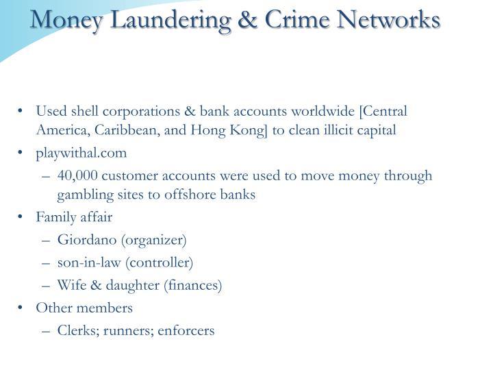Money Laundering & Crime Networks
