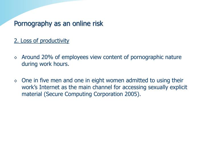 Pornography as an online risk