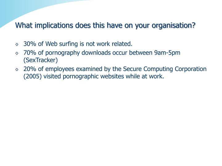 What implications does this have on your organisation?
