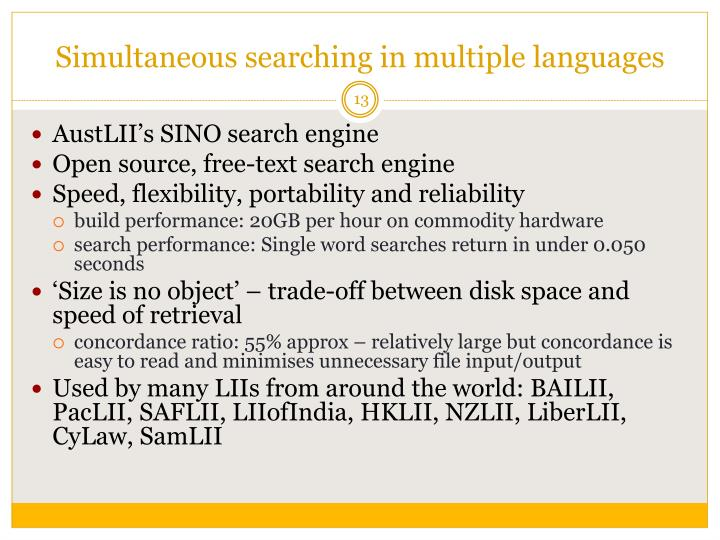 Simultaneous searching in multiple languages