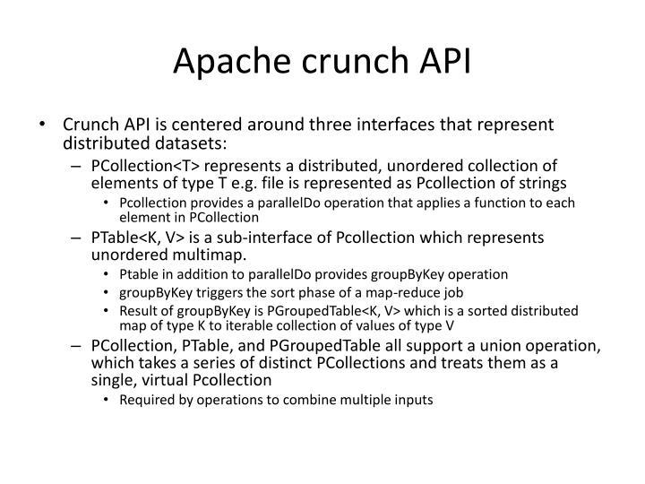 Apache crunch API