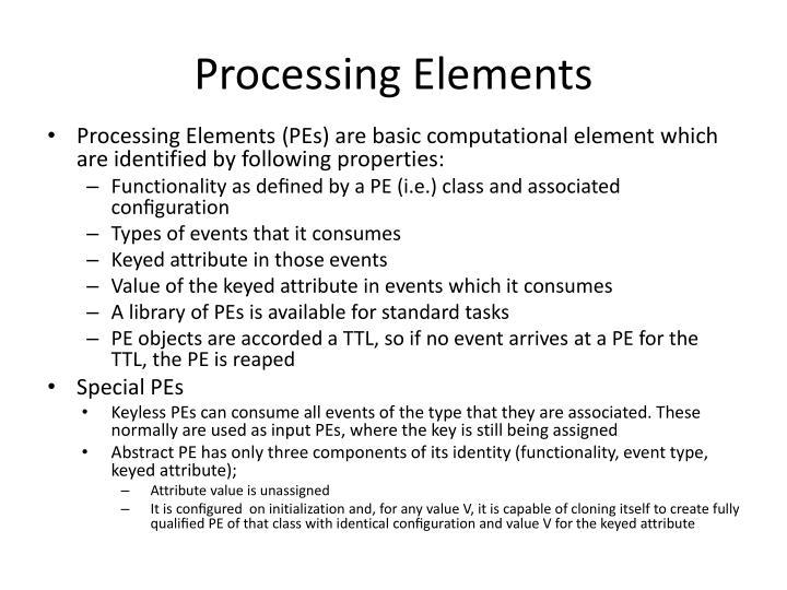 Processing Elements