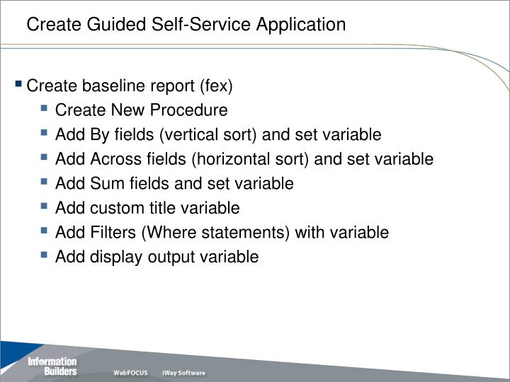 Create Guided Self-Service Application