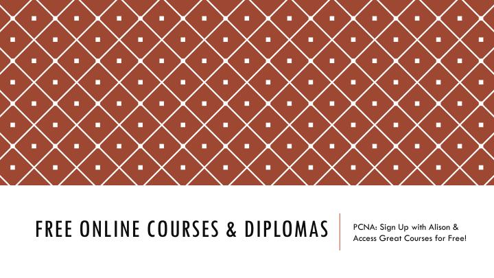 Free online courses diplomas