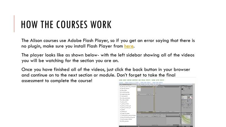 How the courses work