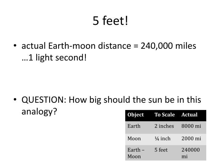 5 feet!