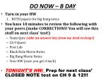 do now b day