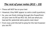 the rest of your notes 12 19