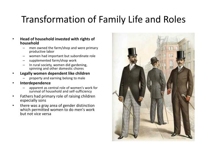 Transformation of Family Life and Roles