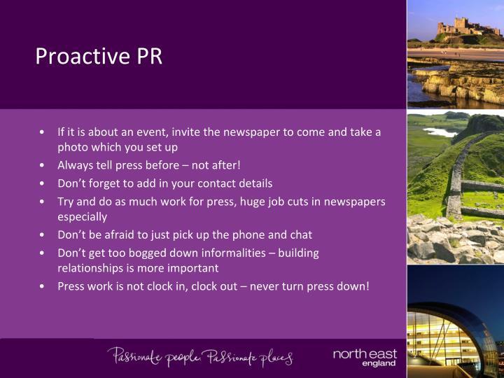 Proactive PR