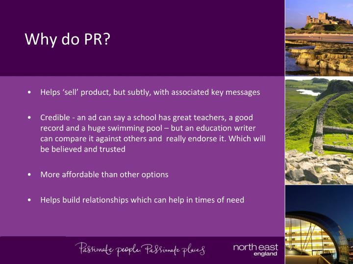 Why do PR?