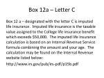 box 12a letter c