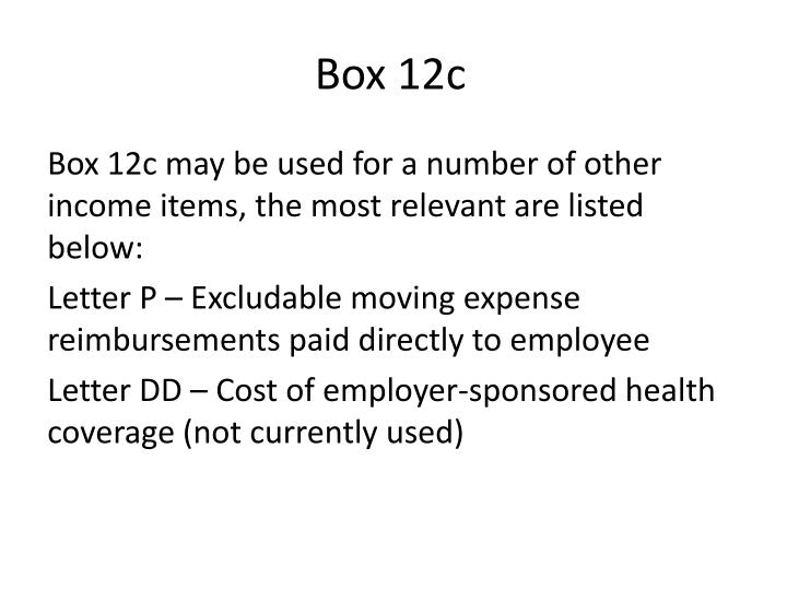Box 12c