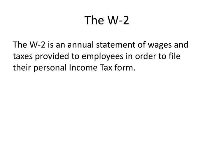 The W-2