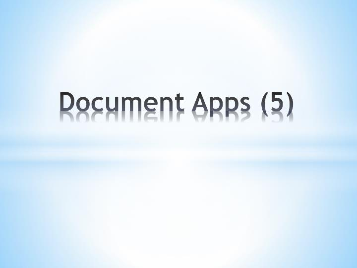 Document Apps (5)