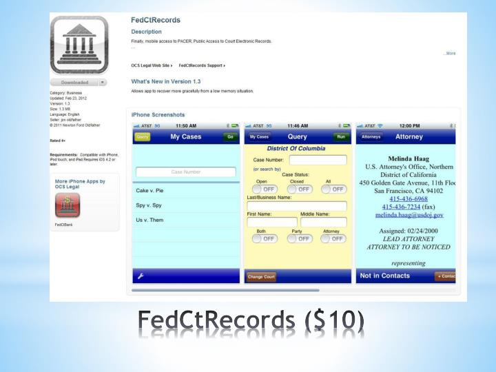 FedCtRecords