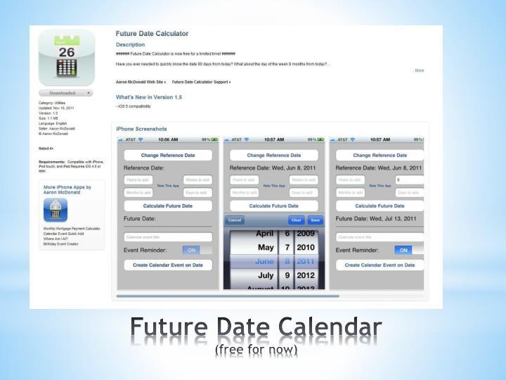 Future Date Calendar