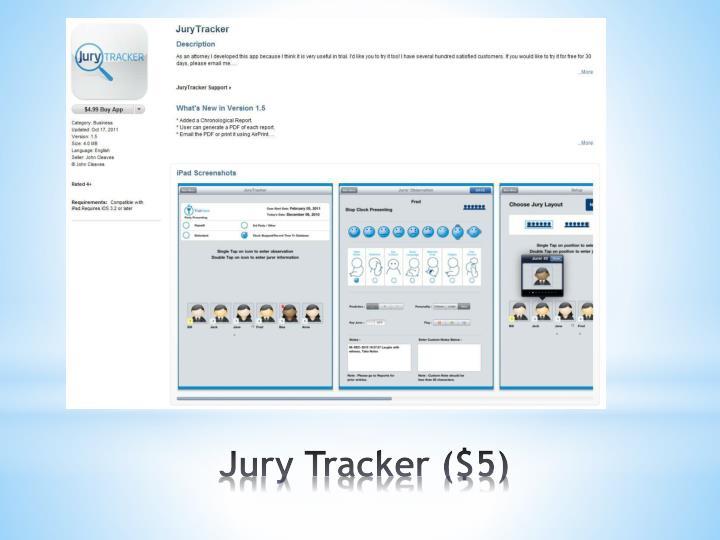 Jury Tracker ($5)