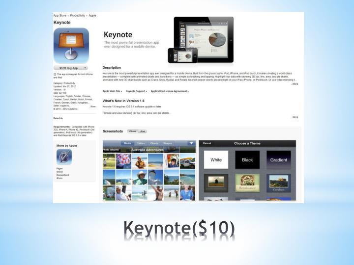 Keynote($10)