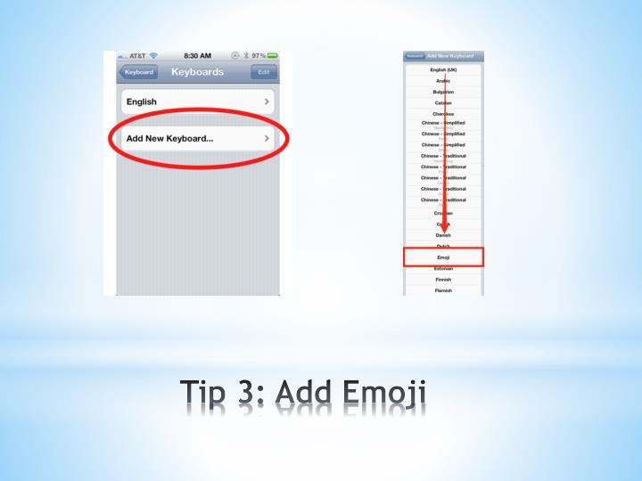 Tip 3: Add