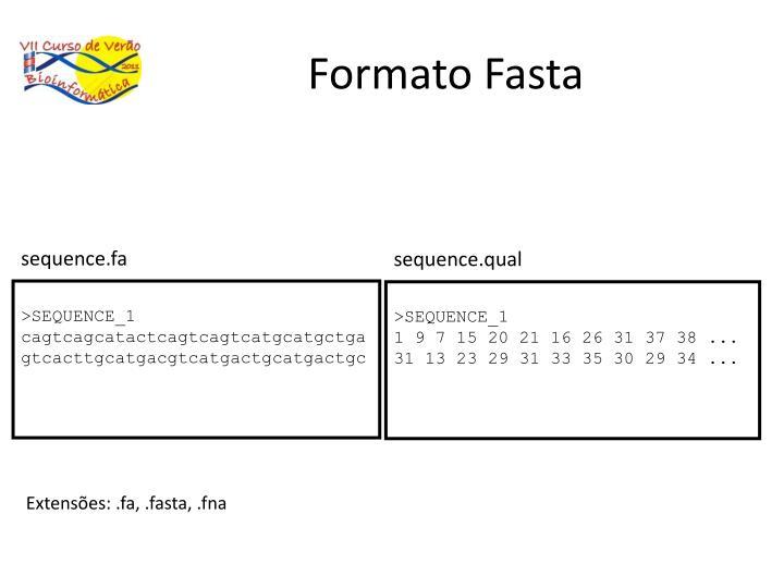 Formato Fasta